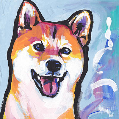 Foxy Shiba Art Print by Lea S
