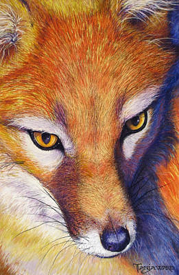 Realistic Pastel Painting - Foxy by Tanja Ware