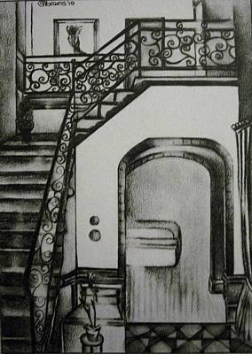 Foyer Architectural Rendering Art Print by Stacey Abrams