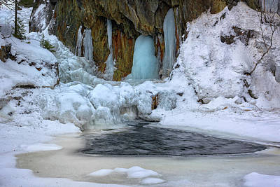 Photograph - Fozen Falls At Smalls Falls by Rick Berk