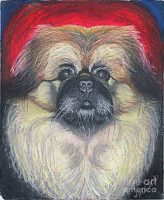 Print featuring the pastel Fozy Bear Pekingese by Ania M Milo