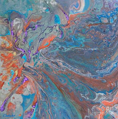 Mixed Media - Fp Turquoise by Jean Clarke