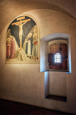 Photograph - Fra Angelico Fresco Florence Italy by Joan Carroll