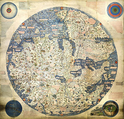 Photograph - Fra Mauro World Map by C H Apperson