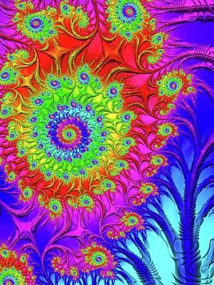 Holi Painting - Frac Flower by Holi