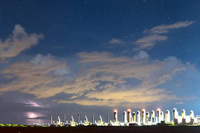 Photograph - Fracking Lightning Storm by James BO  Insogna