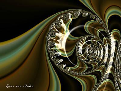 Digital Art - Fractal 4 by Riana Van Staden