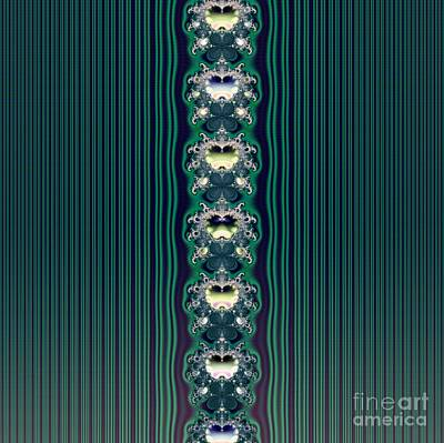 Digital Art - Fractal 43 Aqua Butterflies And Stripes Wallpaper by Rose Santuci-Sofranko