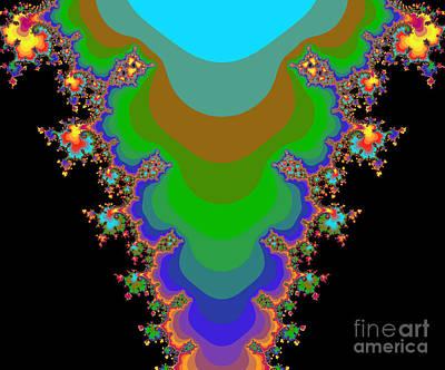 Halley Digital Art - Fractal 64 by Brian Flannery