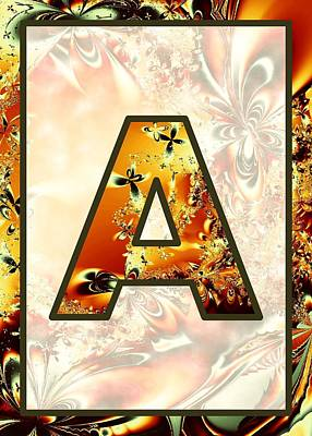 Digital Art - Fractal - Alphabet - A Is For Abstract by Anastasiya Malakhova
