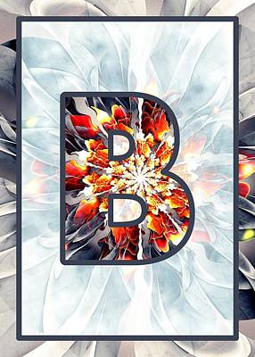 Digital Art - Fractal - Alphabet - B Is For Beauty by Anastasiya Malakhova