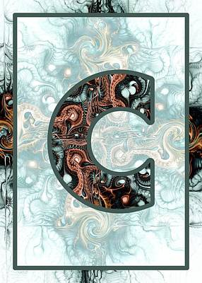 Digital Art - Fractal - Alphabet - C Is For Complexity by Anastasiya Malakhova