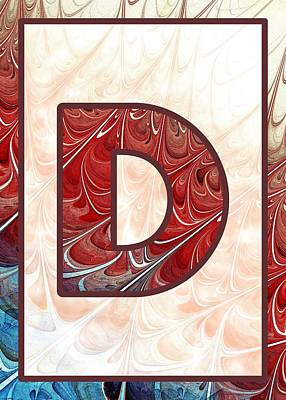 Self Digital Art - Fractal - Alphabet - D Is For Digital by Anastasiya Malakhova