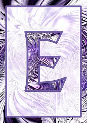 Digital Art - Fractal - Alphabet - E Is For Elegance by Anastasiya Malakhova