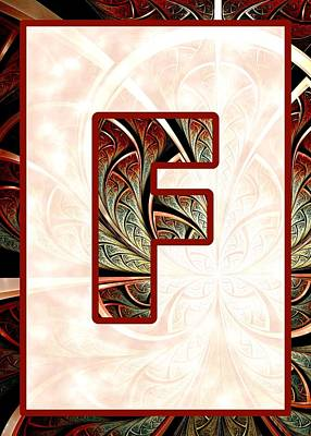 Digital Art - Fractal - Alphabet - F Is For Fractal Creations by Anastasiya Malakhova