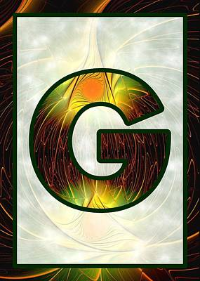 Digital Art - Fractal - Alphabet - G Is For Glow In The Dark by Anastasiya Malakhova