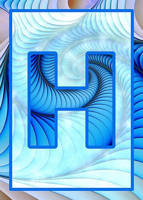 Digital Art - Fractal - Alphabet - H Is For Hypnosis by Anastasiya Malakhova