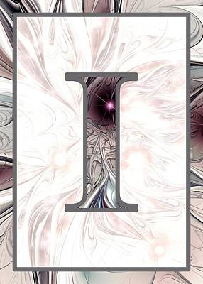 Digital Art - Fractal - Alphabet - I Is For Illusion by Anastasiya Malakhova