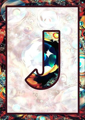 Digital Art - Fractal - Alphabet - J Is For Jewelry by Anastasiya Malakhova