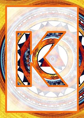 Digital Art - Fractal - Alphabet - K Is For Kaleidoscope by Anastasiya Malakhova