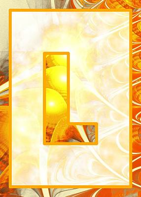 Digital Art - Fractal - Alphabet - L Is For Light by Anastasiya Malakhova