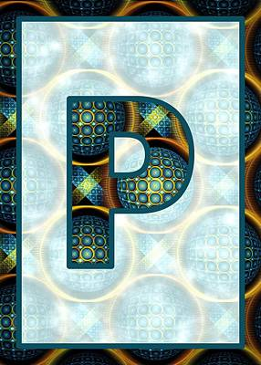Digital Art - Fractal - Alphabet - P Is For Patterns by Anastasiya Malakhova