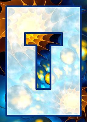 Digital Art - Fractal - Alphabet - T Is For Thoughts by Anastasiya Malakhova