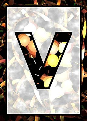 Digital Art - Fractal - Alphabet - V Is For Visual Perception by Anastasiya Malakhova