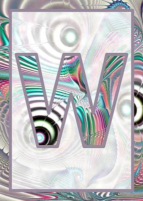 Digital Art - Fractal - Alphabet - W Is For Waves by Anastasiya Malakhova