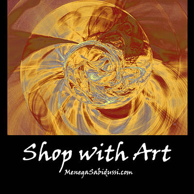 Digital Art - Fractal Ammonite - Shop With Art by Menega Sabidussi