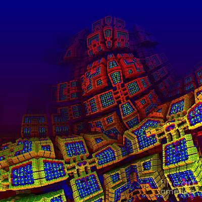 Surrealistic Digital Art - Fractal Architecture by Issabild -