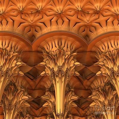 Eerie Digital Art - Fractal Architecture by Lyle Hatch