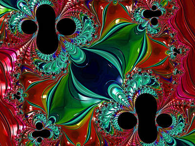 Digital Art - Fractal Art - Jewel Tones By H H Photography Of Florida by HH Photography of Florida