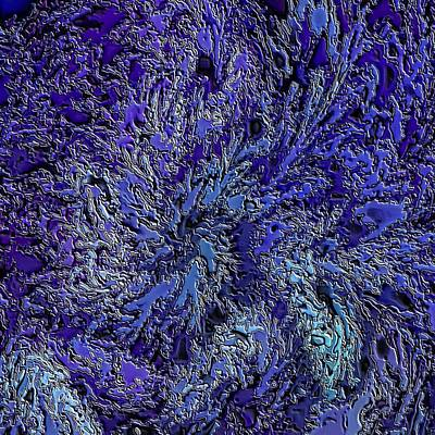 Digital Art - Fractal Blues by Doug Morgan
