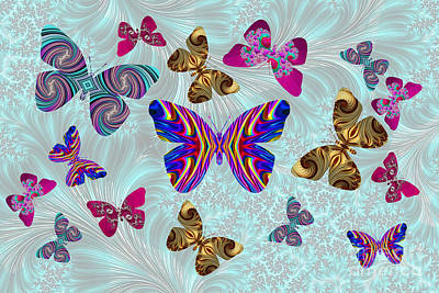 Digital Art - Fractal Butterfly Paradise by Steve Purnell