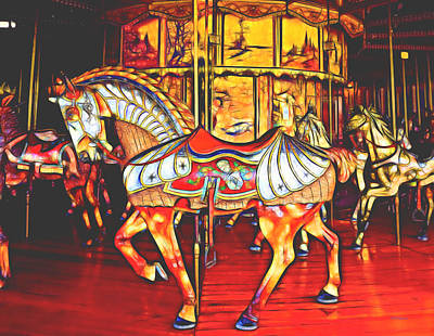 Photograph - Fractal Carousel Horse by Ericamaxine Price