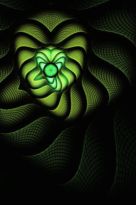 Abstract Digital Digital Art - Fractal Cobra by John Edwards