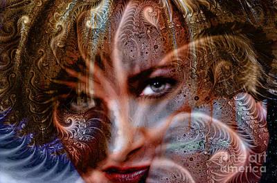 Digital Art - Fractal Eyes by Clayton Bruster