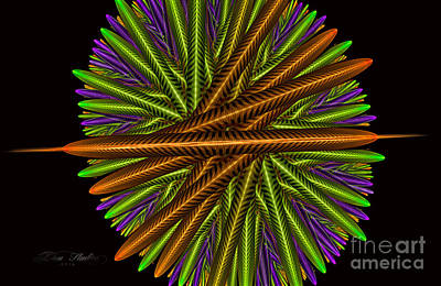 Digital Art - Fractal Feathers by Melissa Messick