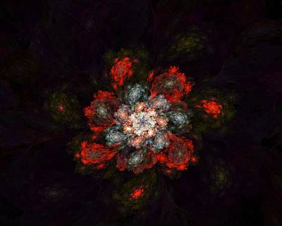 Digital Art - Fractal Floral 02-12-10-a by David Lane