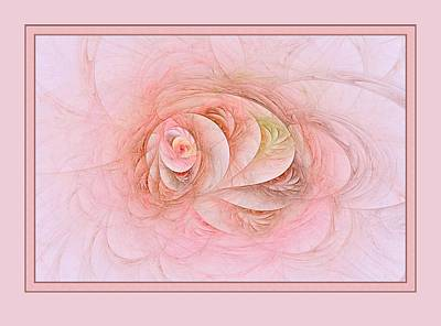 Digital Art - Fractal Florus With Border by Doug Morgan