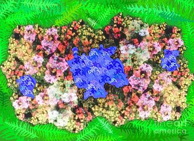 Fractal Flower Garden Art Print by Diamante Lavendar