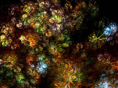Ebsq Digital Wall Art - Digital Art - Fractal Flowers by Claire Bull