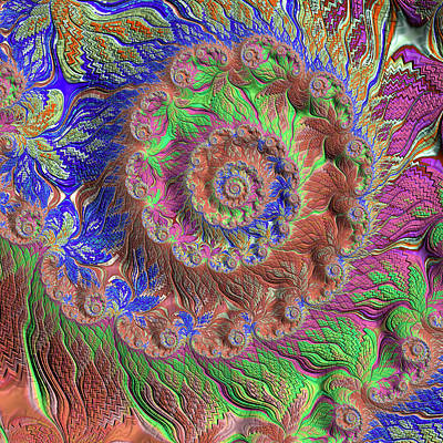Digital Art - Fractal Garden by Bonnie Bruno