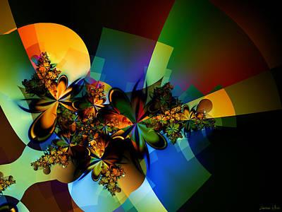 Playful Digital Art - Fractal Impersonating A Vector by Lauren Goia