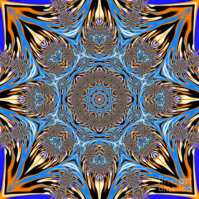 Fractal Lace Mandala Art Print