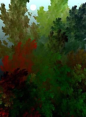 Fractal Landscape 11-21-09 Print by David Lane