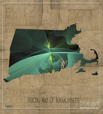 Digital Art - Fractal Map Of Massachusetts by Melissa Messick