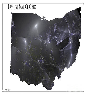 Digital Art - Fractal Map Of Ohio by Melissa Messick
