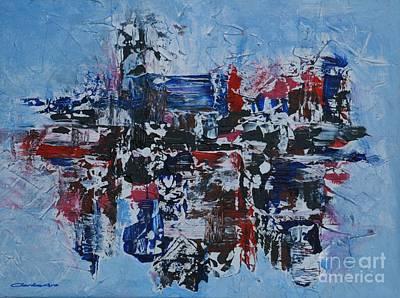 Painting - Fractal Metropolis by Jean Clarke